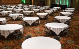 Banquet or Meeting setup in the ballroom with social distancing.
