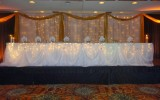 "Our beautiful ""Cinderella Skirting"" is included in all wedding packages."