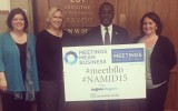 Mayor Byron Brown showing his support for #NAMID15