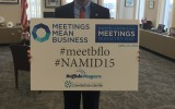 County Executive Mark Poloncarz showing some Buffalove for #NAMID15