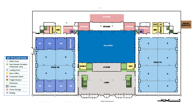 Floor plans about us buffalo niagara convention center for Trade show floor plan design